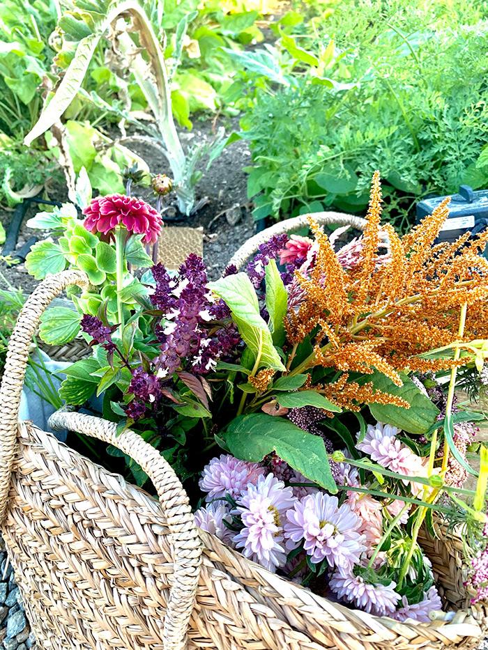bag with garden produce