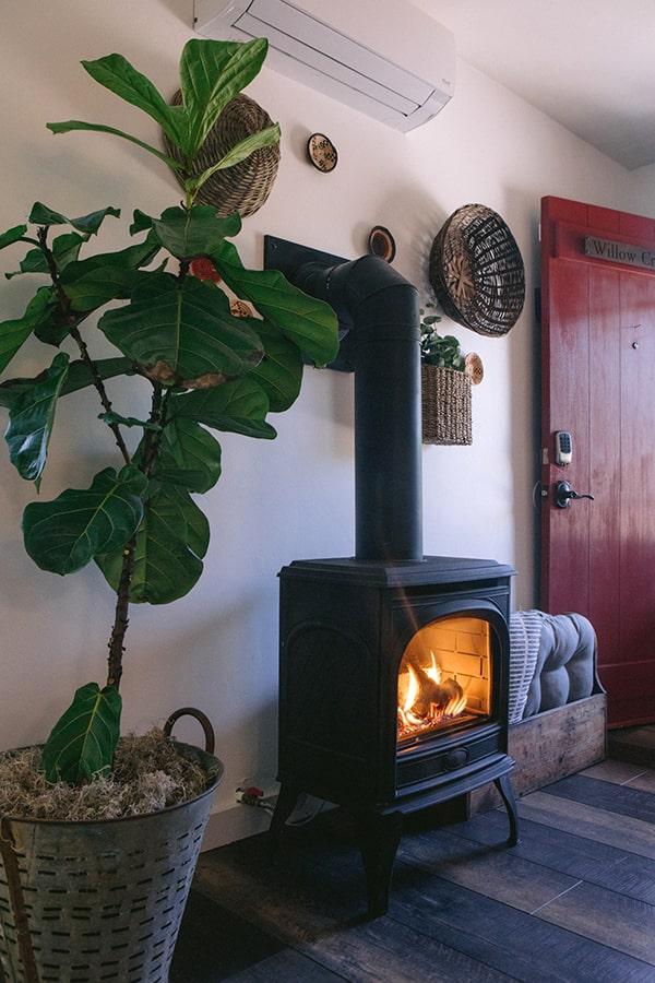 willow creek, fireplace